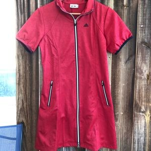 Adidas Red track dress